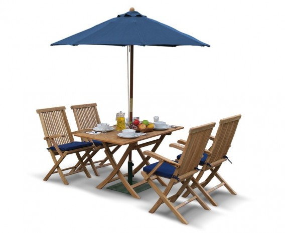 ... Garden Folding Dining Table And Arm Chairs Patio  ...