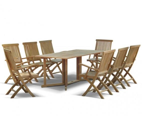 ... garden-gateleg-table-and-chairs-set-6ft-rectangular- ...  sc 1 st  Lindsey Teak & Shelley Garden Gateleg Table And Chairs Set - Lindsey Teak