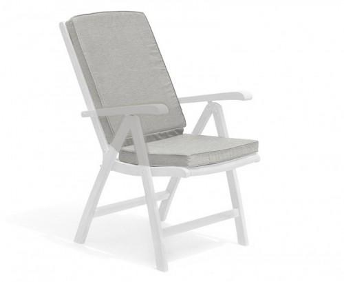 Grey Marl Garden Recliner Chair Cushion