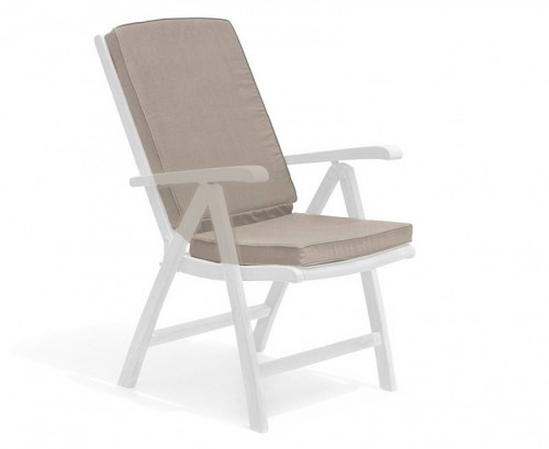 Taupe Garden Recliner Chair Cushion