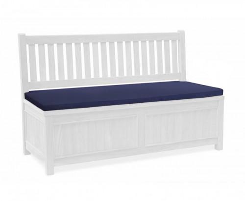 Navy Blue 3-Seater Storage Bench Cushion