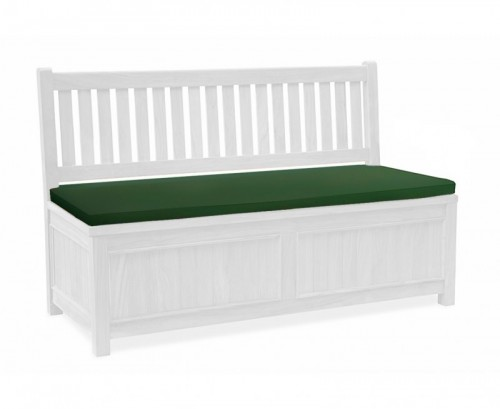 Green 3-Seater Storage Bench Cushion