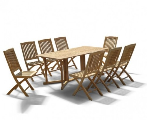 Shelley gateleg folding garden table and chairs set lindsey teak - Gateleg table and chairs ...