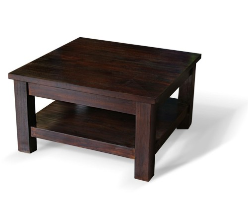 Indoor Antique Finish Teak Wood Coffee Table Lindsey Teak