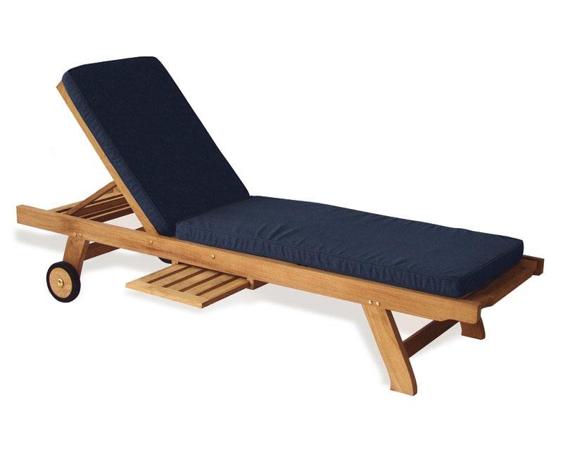 Outdoor Sun Lounger Cushion Lindsey Teak