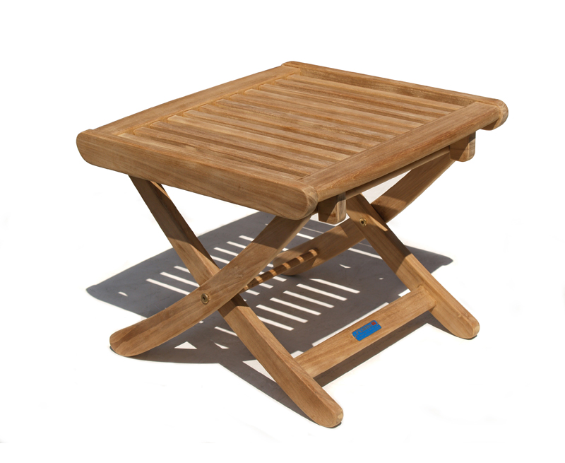 Bali rimini teak side table outdoor footstool lindsey teak for Outdoor teak side table