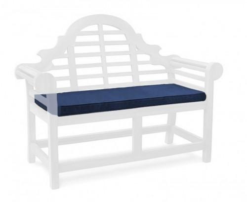 Navy Blue 2-Seater Lutyens-Style Bench Cushion