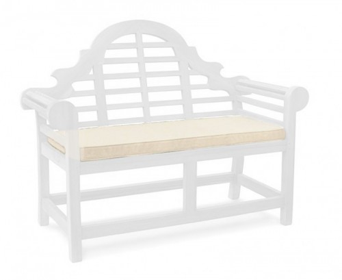 Natural 2-Seater Lutyens-Style Bench Cushion