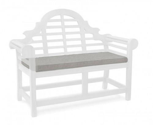 Grey Marl 2-Seater Lutyens-Style Bench Cushion