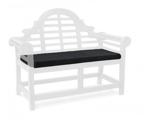 Black 2-Seater Lutyens-Style Bench Cushion