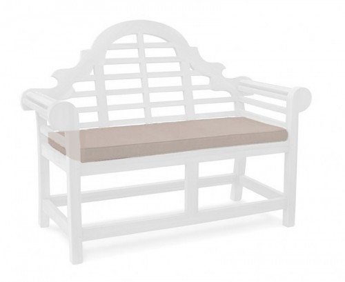 Taupe 2-Seater Lutyens-Style Bench Cushion