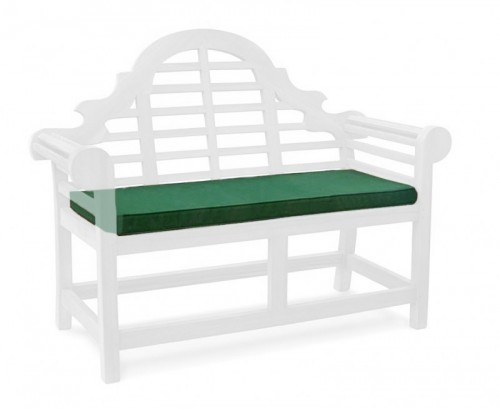 Forest Green 2-Seater Lutyens-Style Bench Cushion