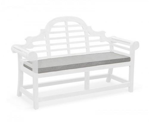 Grey Marl 3-Seater Lutyens-Style Bench Cushion