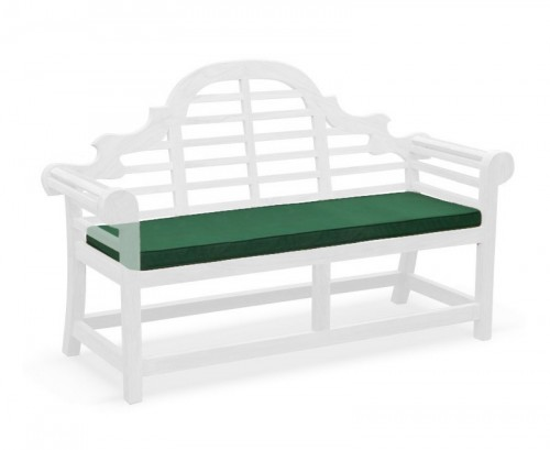 Forest Green 3-Seater Lutyens-Style Bench Cushion