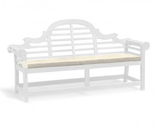 Natural 4-Seater Lutyens-Style Bench Cushion