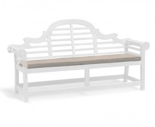 Taupe 4-Seater Lutyens-Style Bench Cushion