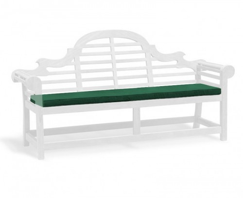 Forest Green 4-Seater Lutyens-Style Bench Cushion