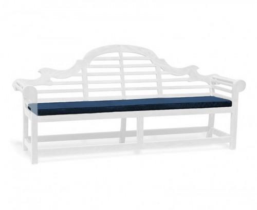 Navy Blue 5-Seater Lutyens-Style Bench Cushion