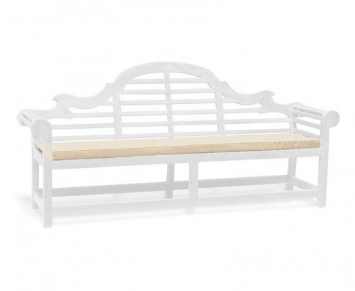 Natural 5-Seater Lutyens-Style Bench Cushion