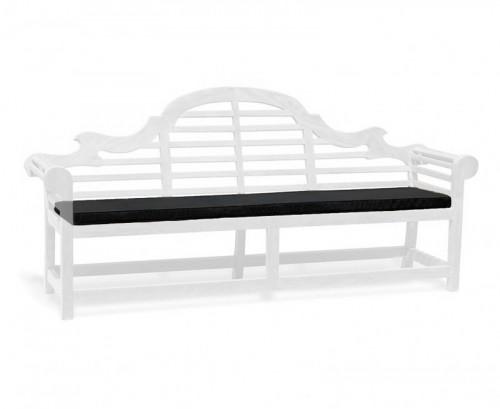Black 5-Seater Lutyens-Style Bench Cushion