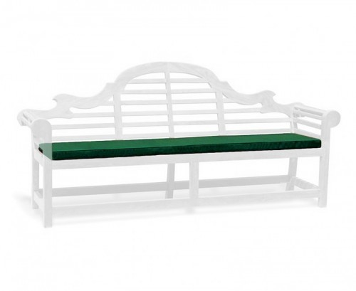 Forest Green 5-Seater Lutyens-Style Bench Cushion