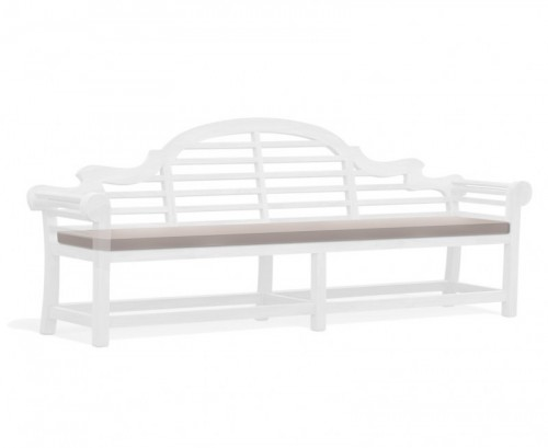 Taupe 6-Seater Lutyens-Style Bench Cushion
