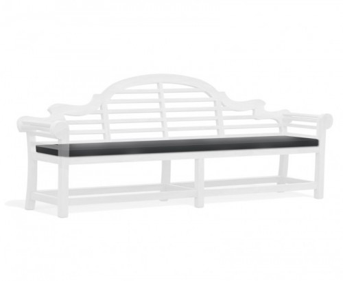 Black 6-Seater Lutyens-Style Bench Cushion