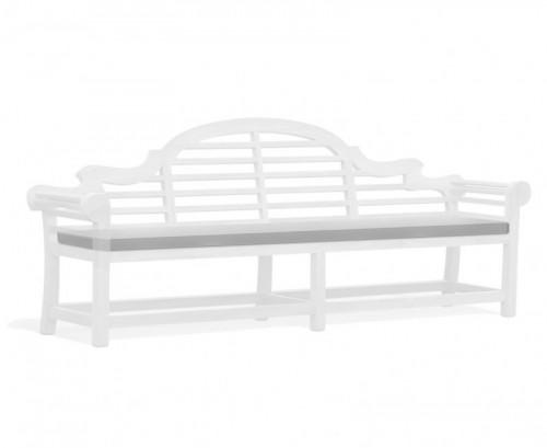 Grey 6-Seater Lutyens-Style Bench Cushion