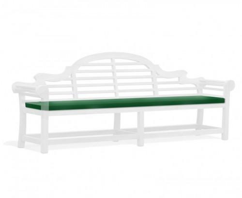 Green 6-Seater Lutyens-Style Bench Cushion