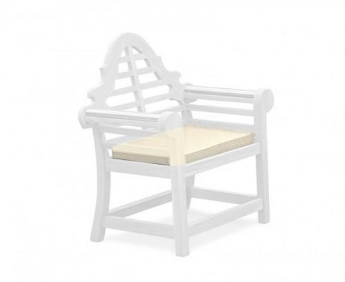 Natural Lutyens-Style Garden Chair Cushion