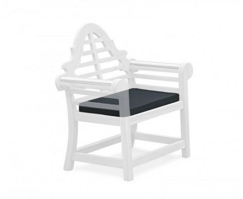 Black Lutyens-Style Garden Chair Cushion