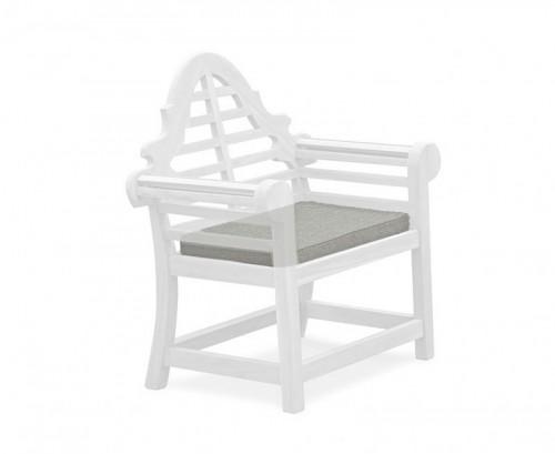 Grey Marl Lutyens-Style Garden Chair Cushion