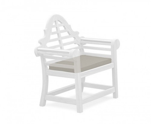 Taupe Lutyens-Style Garden Chair Cushion