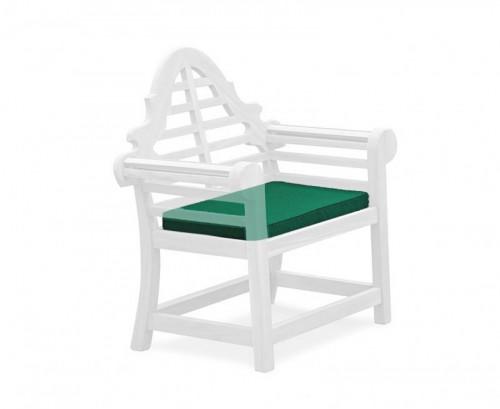 Forest Green Lutyens-Style Garden Chair Cushion