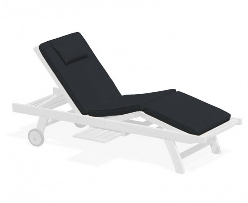 Black Luxury Sun Lounger Cushion