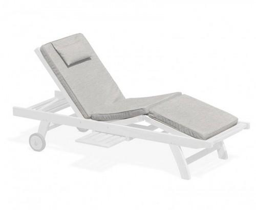 Grey Marl Luxury Sun Lounger Cushion
