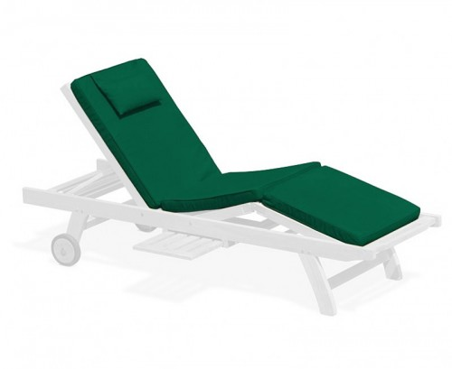 Forest Green Luxury Sun Lounger Cushion