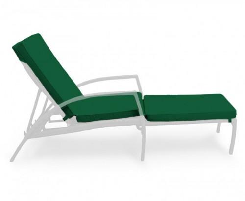 Forest Green Monaco Garden Sun Lounger Cushion