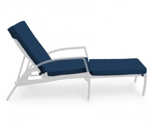 Navy Blue Monaco Garden Sun Lounger Cushion