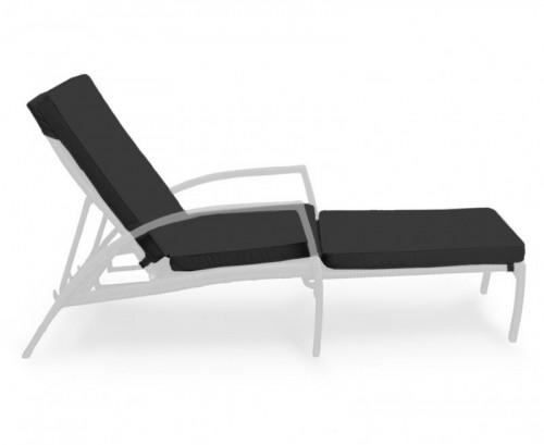 Black Monaco Garden Sun Lounger Cushion