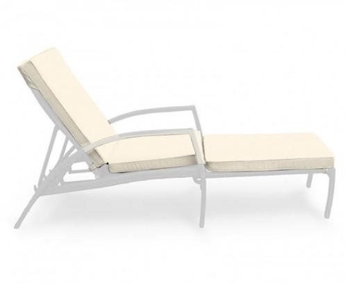 Natural Monaco Garden Sun Lounger Cushion