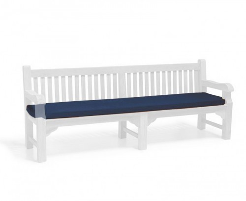 Navy Blue 2.4m Outdoor Bench Cushion