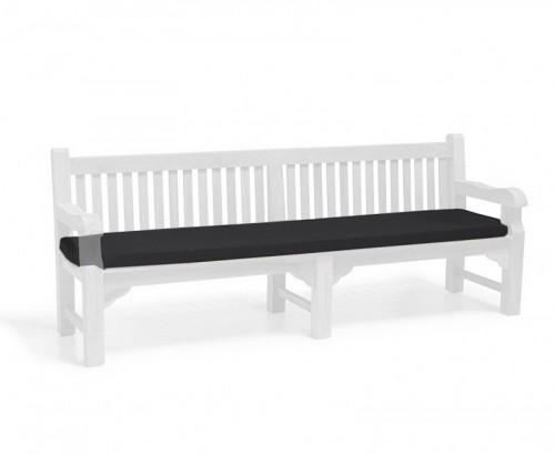 Black 2.4m Outdoor Bench Cushion