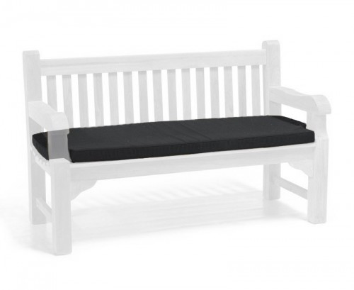 Black 3-Seater Outdoor Cushion