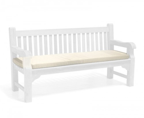 Natural 4-Seater Outdoor Bench Seat Cushion