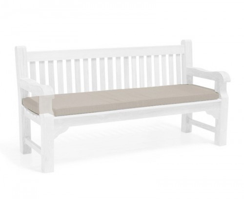 Taupe 4-Seater Outdoor Bench Seat Cushion