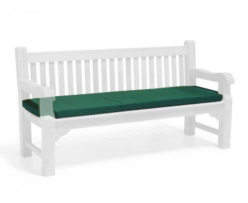 Forest Green 4-Seater Outdoor Bench Seat Cushion