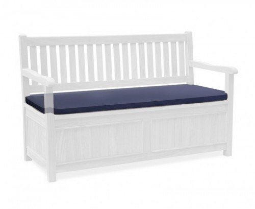 Navy Blue 3-Seater Storage Bench with Arms Cushion