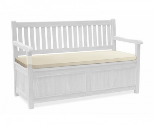 Natural 3-Seater Storage Bench with Arms Cushion