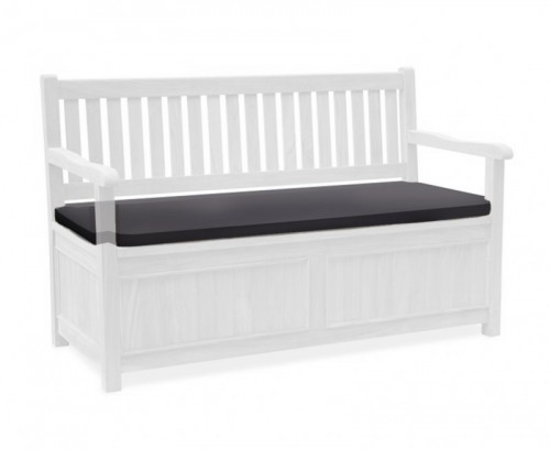 Black 3-Seater Storage Bench with Arms Cushion